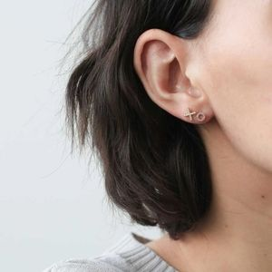 X AND O PAVE EARRINGS IN ROSE GOLD